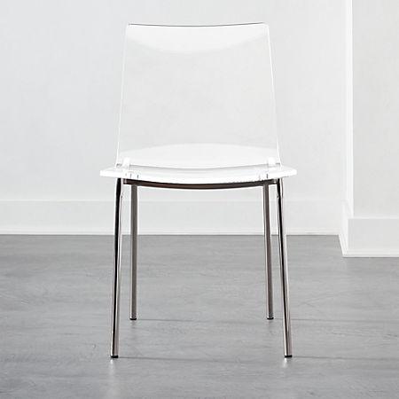 Chiaro Clear Chair Nickel Reviews Cb2