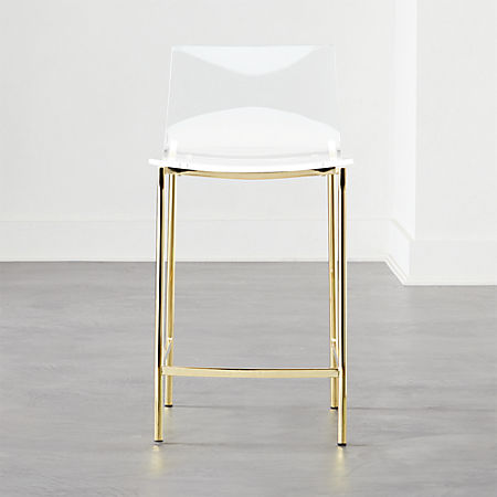 Marvelous Chiaro Clear Counter Stool 24 Gold Squirreltailoven Fun Painted Chair Ideas Images Squirreltailovenorg