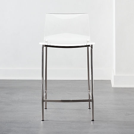 Peachy Chiaro Clear Counter Stool 24 Nickel Andrewgaddart Wooden Chair Designs For Living Room Andrewgaddartcom