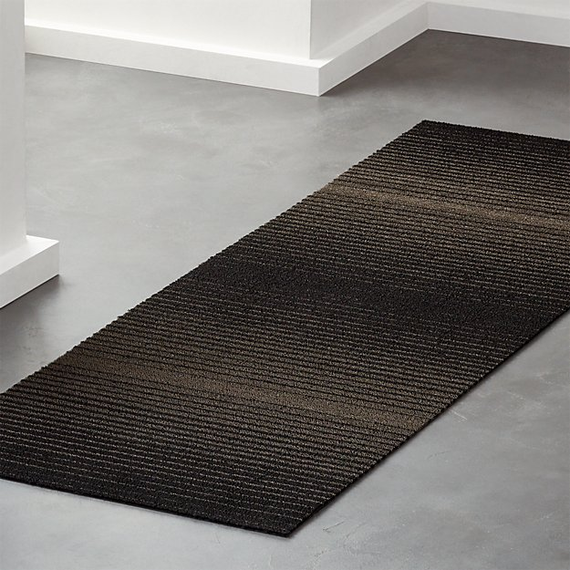 Chilewich ® Black Ombre Shag Runner 2'x6' - Image 1 of 3