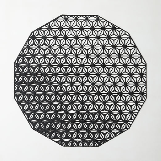 Chilewich ® Black Kaleidescope Placemat
