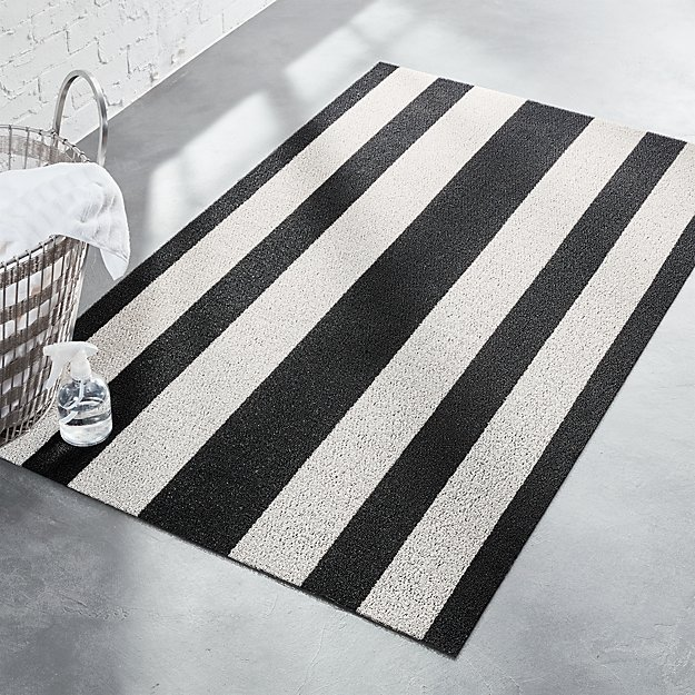 Chilewich ® Black and White Mat - Image 1 of 6