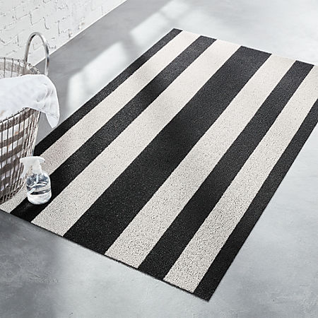 Chilewich Black And White Floor Mat