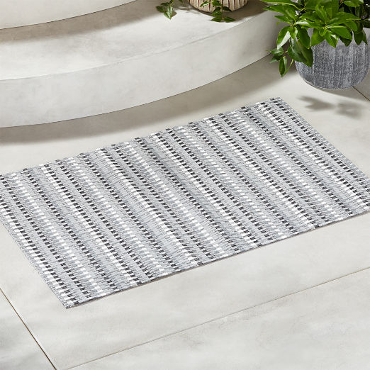 Chilewich ® Heddle Neutral Doormat ...