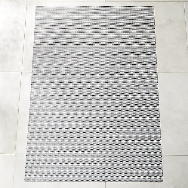 Chilewich ® Heddle Neutral Outdoor Rug 6'x9' - Image 1 of 7