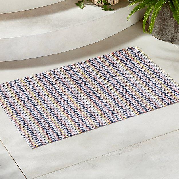 Chilewich ® Heddle Multicolor Doormat 2'x3' - Image 1 of 4