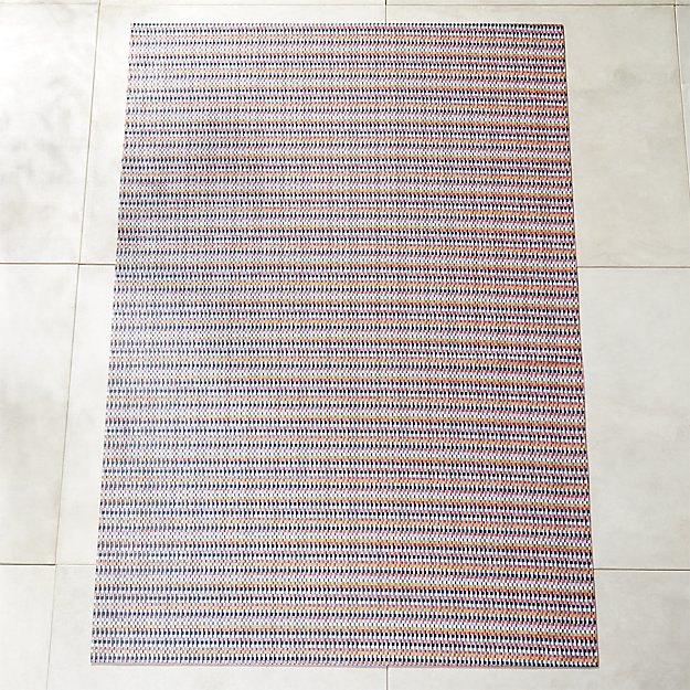 Chilewich ® Heddle Multicolor Outdoor Rug 6'x9' - Image 1 of 4