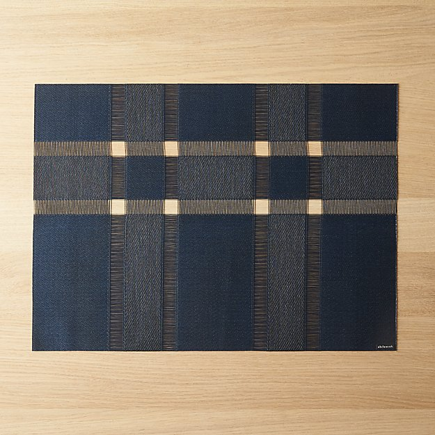 Cb2 Free Shipping >> Chilewich Interlace Sapphire Placemat Reviews Cb2