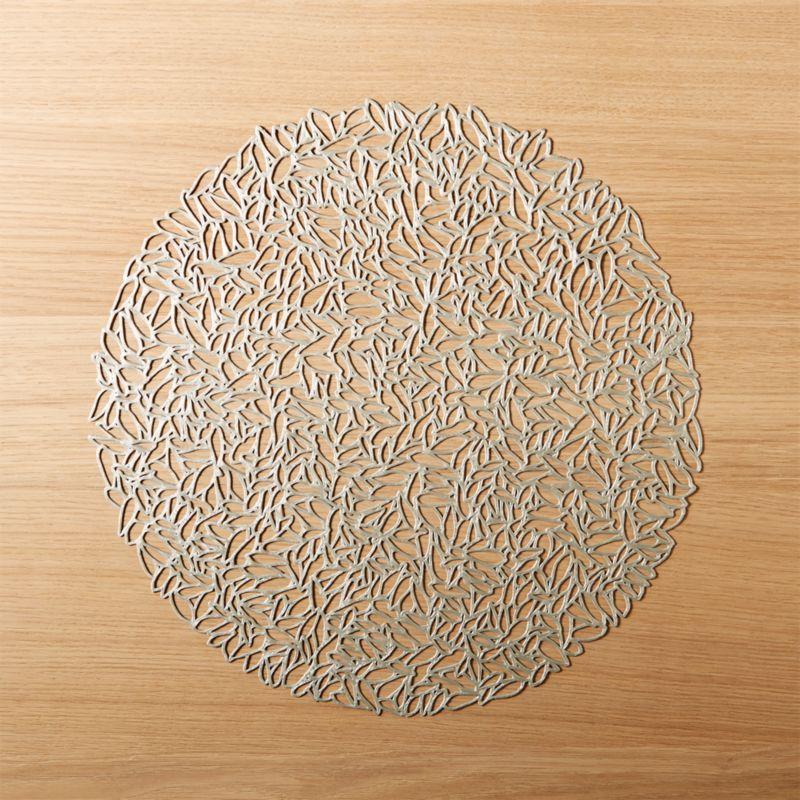 Chilewich Petal Silver Cutout Placemat