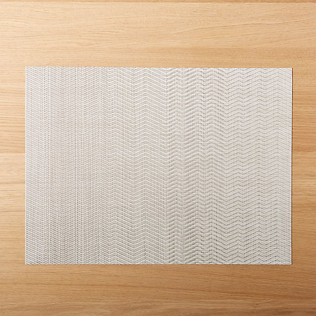 Chilewich ® Wave Neutral Placemat - Image 1 of 4