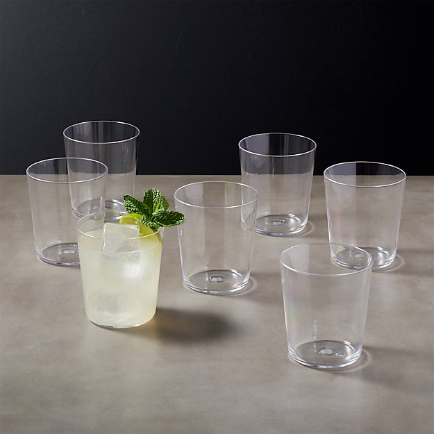 Chill Acrylic  Double Old-Fashioned Glass Set of 8 - Image 1 of 9
