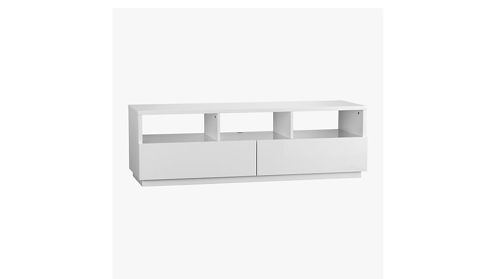 Marvelous Chill White Media Console + Reviews | CB2