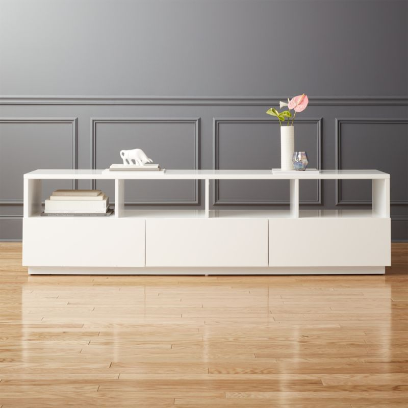 Tv Tables Big Tv Stand: Chill Large White Media Console + Reviews