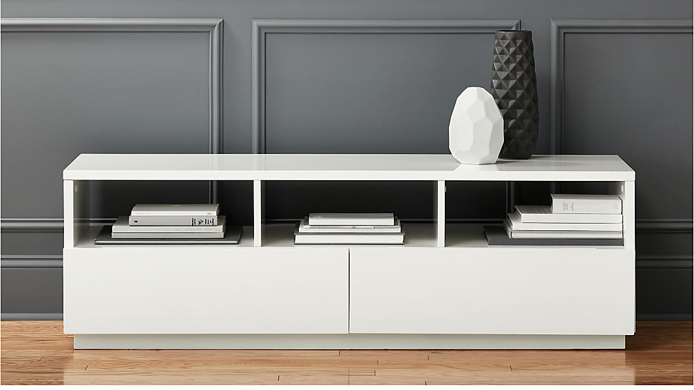 Chill White Media Console Reviews Cb2