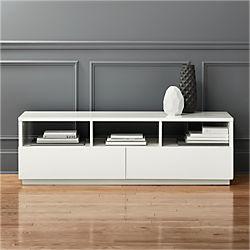 chill white media console Modern Media Consoles, Credenzas and Cabinets   CB2