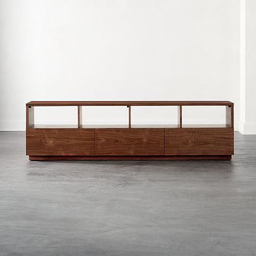 Chill Walnut Wood Large Media Console