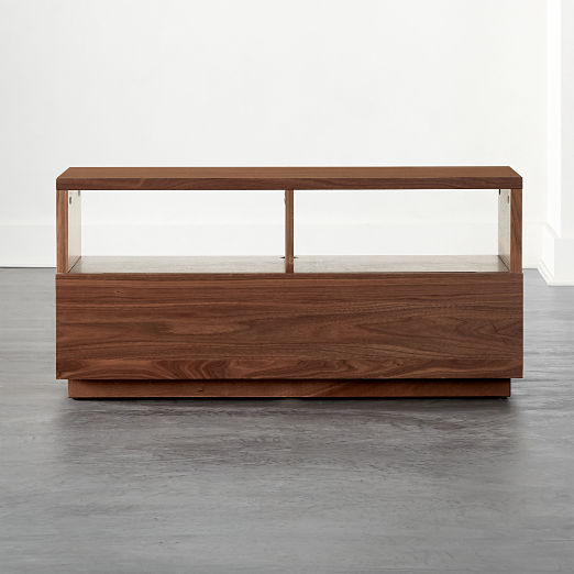 Chill Walnut Wood Mini Media Console