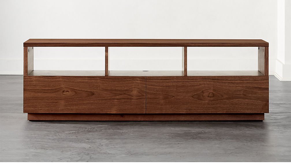 Chill Walnut Wood Media Console - Image 1 of 7