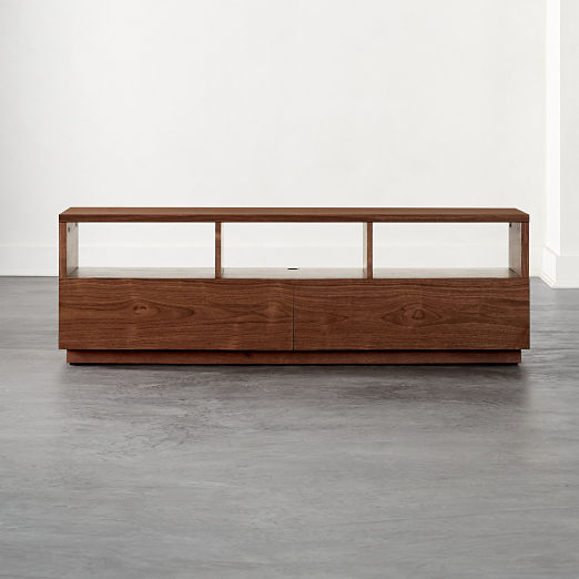 Chill Walnut Wood Media Console