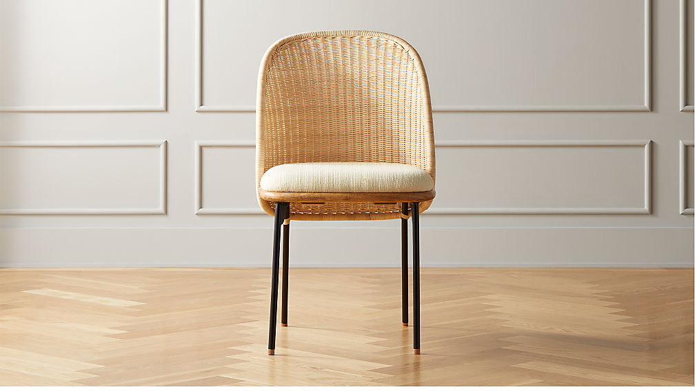 Chord Woven Back Dining Chair - Image 1 of 9