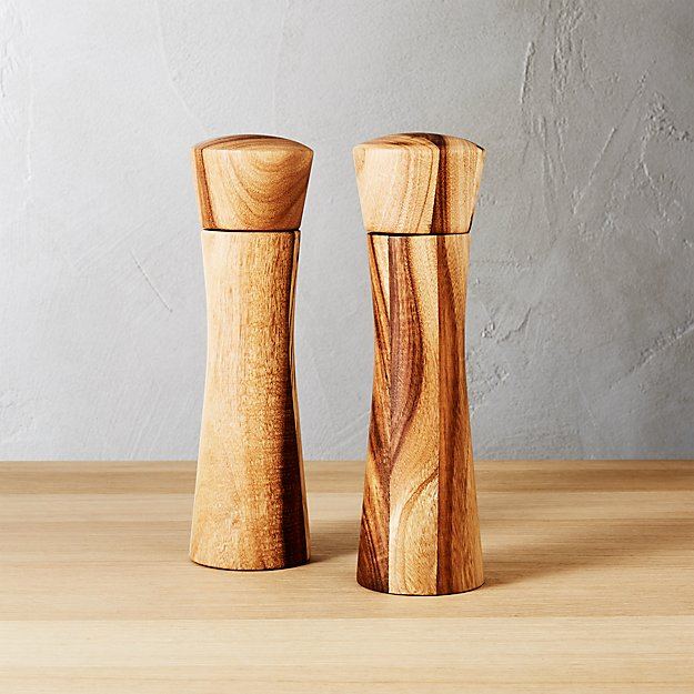 Cinch Wood Salt And Pepper Grinder Set Reviews Cb2