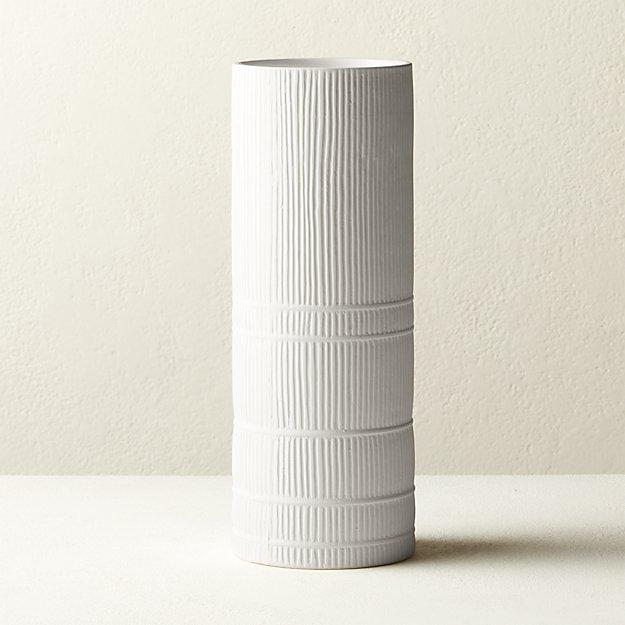 Cinch White Cylinder Vase - Image 1 of 5