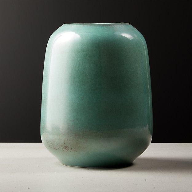 Circa Metallic Aqua Vase - Image 1 of 4