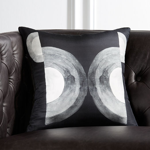 "16"" Circles Silk Pillow"