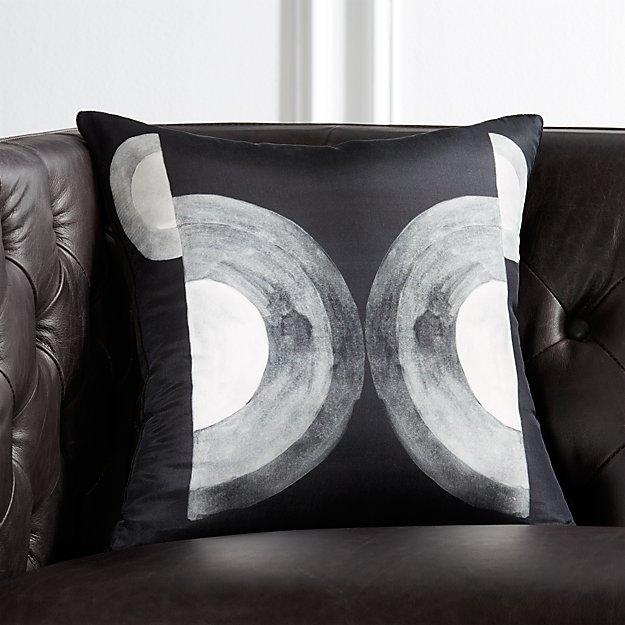 """16"""" Circles Silk Pillow - Image 1 of 5"""