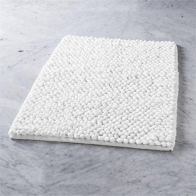 Cirrus White Bath Mat Reviews Cb2
