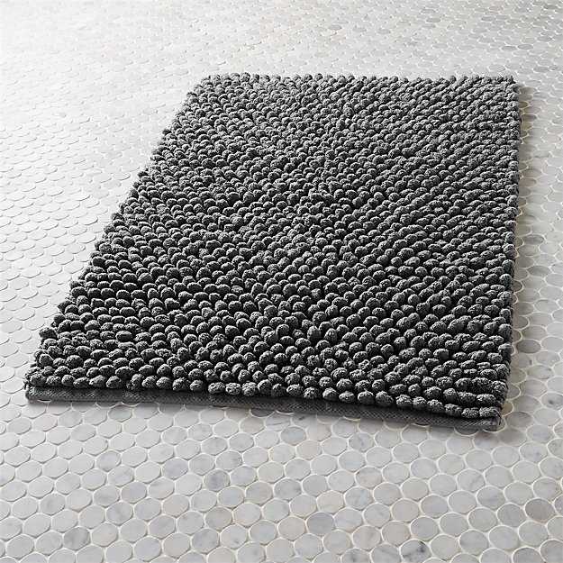 Cirrus Grey Bath Mat Reviews Cb2