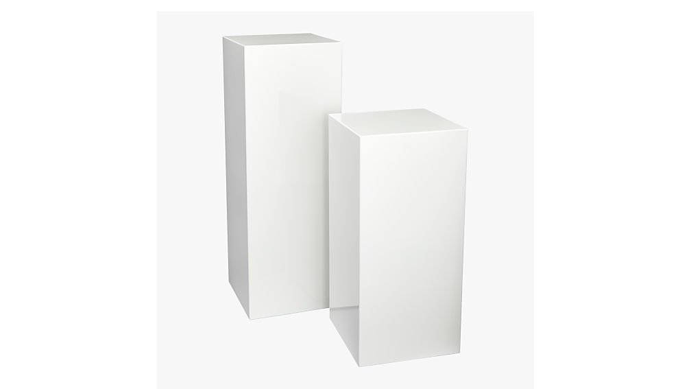 City Slicker Small Pedestal Table + Reviews | CB2
