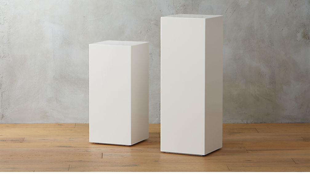City Slicker Pedestal Tables - Image 1 of 10