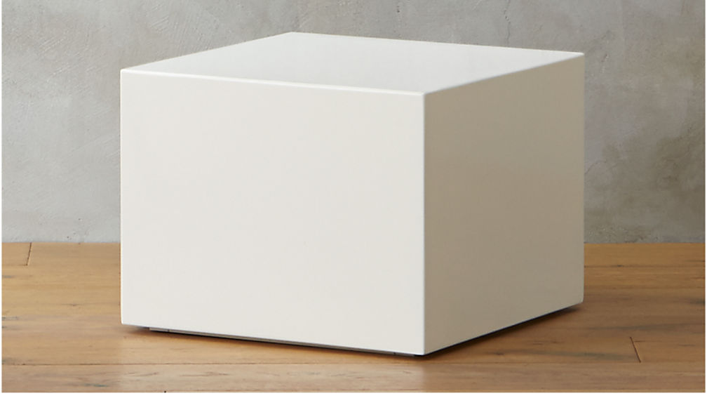 city slicker white lacquer side table + reviews | cb2 Cube Coffee Table