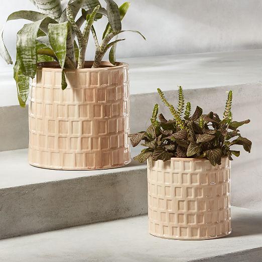 Clara Ivory Planters