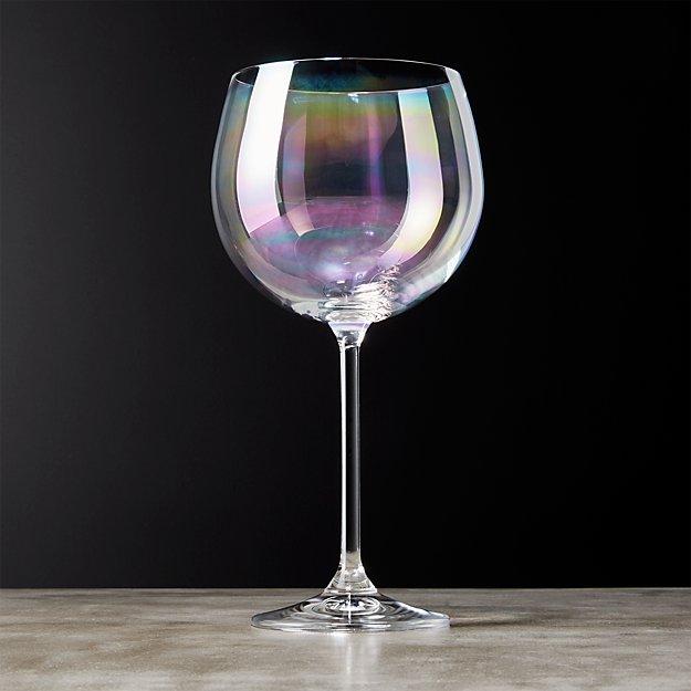 Clarity Iridescent Wine Glass Reviews Cb2