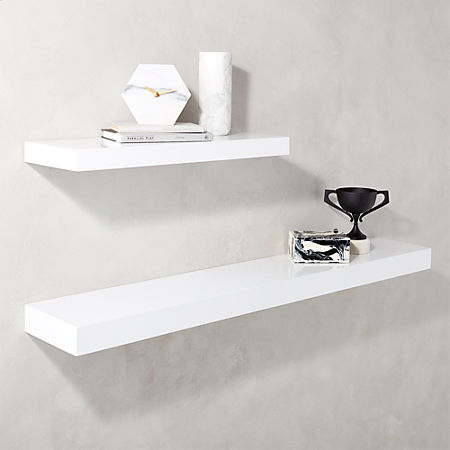 Stupendous Calvin Hi Gloss White Floating Shelves Download Free Architecture Designs Remcamadebymaigaardcom