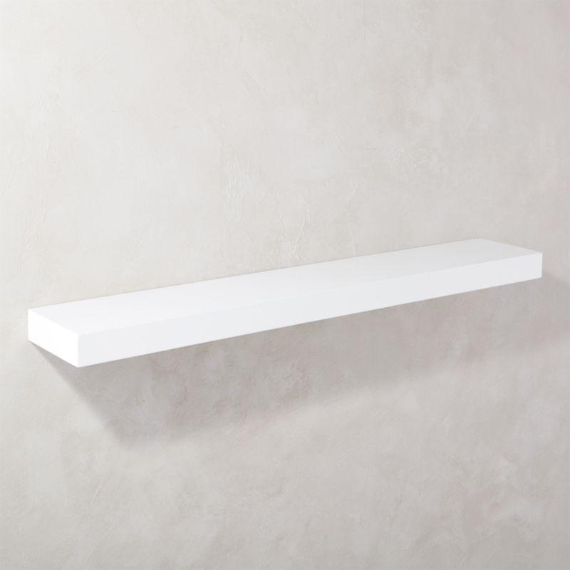 calvin hi gloss white floating shelf 48 reviews cb2. Black Bedroom Furniture Sets. Home Design Ideas