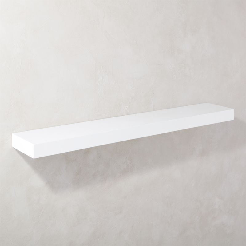 Calvin Hi Gloss White Floating Shelf 48