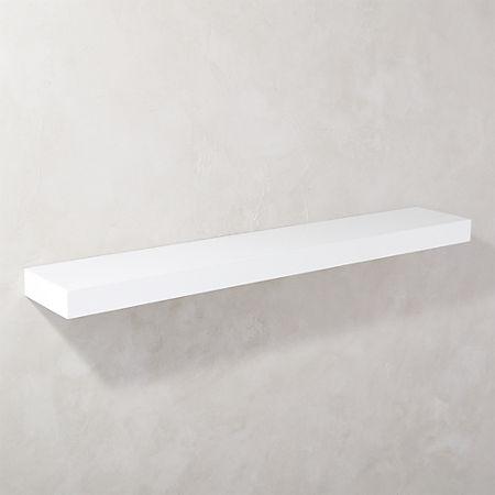 online store 42333 9852f Calvin Hi-Gloss White Floating Shelf 48