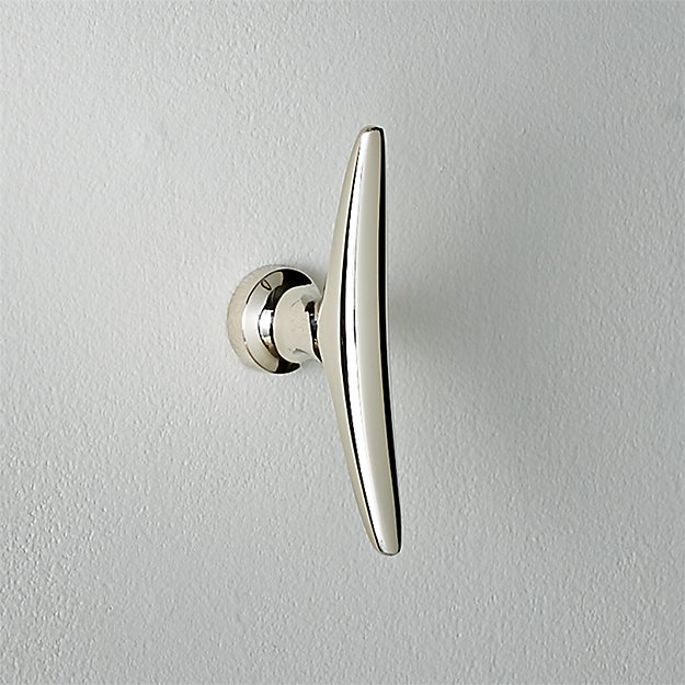 Cleat Polished Nickel Wall Hook - Image 1 of 4