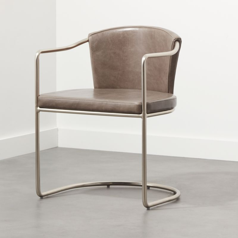 Cleo Grey Cantilever Chair Reviews Cb2