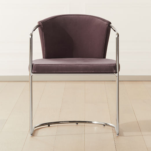 Cleo Orchid Velvet Cantilever Chair