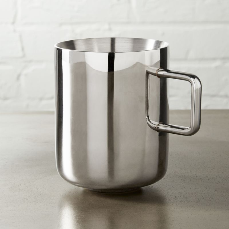 clink stainless steel mug & stainless steel dinnerware | CB2