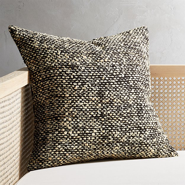 """20"""" Cozie Black and Natural Pillow - Image 1 of 6"""