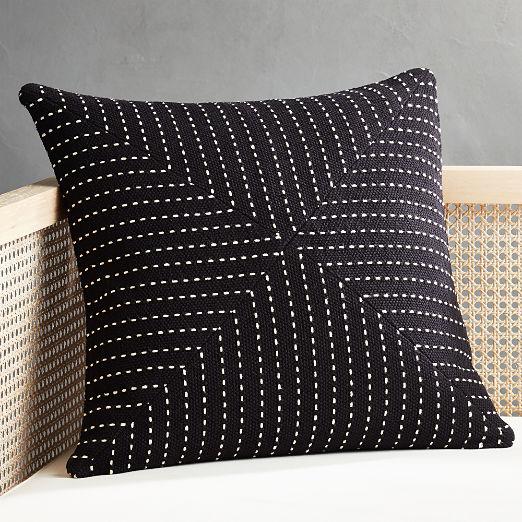 "20"" Clique Black Pillow"