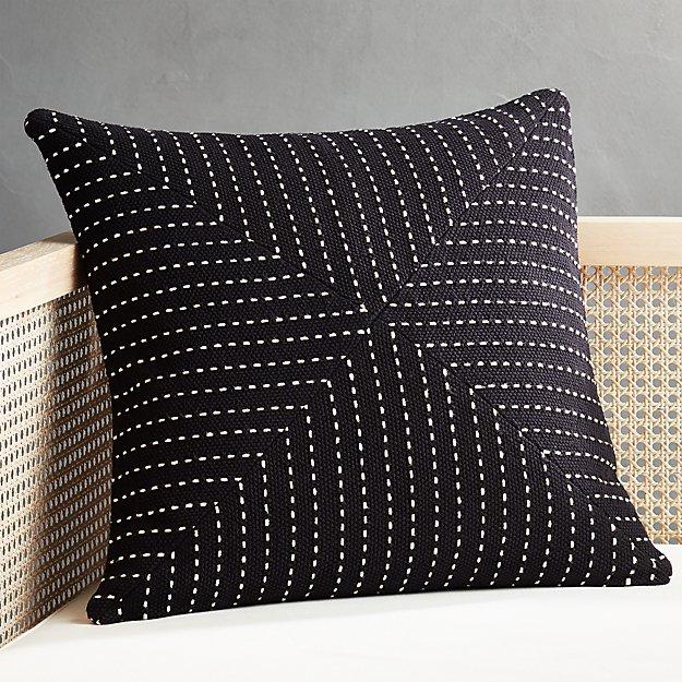 "20"" Clique Black Pillow - Image 1 of 5"