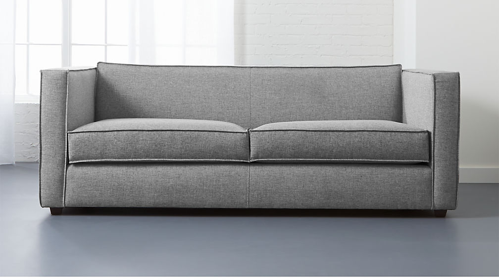 Superieur Club Light Grey Sofa + Reviews | CB2