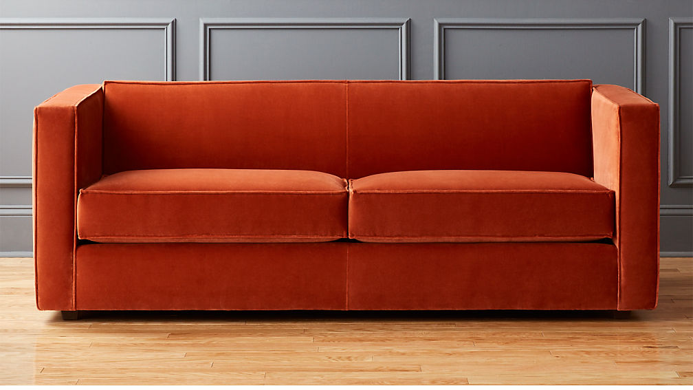 Orange Sofa Bed Zed Orange Leather Sofa Bed Steal A