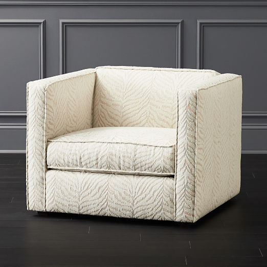 Club Tigre Luxe White Chair